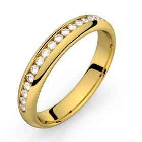 Comète or jaune diamants 22 HSI
