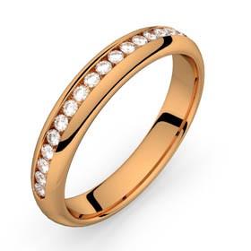 Comète or rose diamants 22 HSI