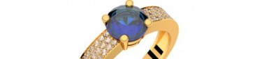 Danaé Eternity saphir bleu or jaune diamants GVS