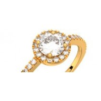 Solitaire or jaune diamant 0,80 ct GVS MADELEINE