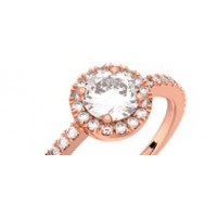 Solitaire or rose diamant 0,80 ct GVS MADELEINE