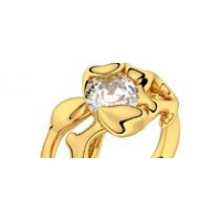 Bague solitaire diamant or jaune 0,50 ct HSI Obsession