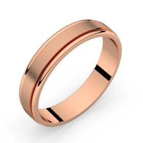 Alliance mariage or rose RÂ 4,5 mm