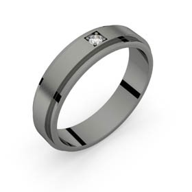 Bague homme or rhodiage noir diamant AERODYNE 5.0