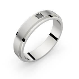 Bague homme or blanc diamant noir AERODYNE 5.0