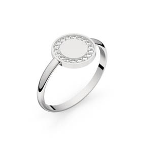 Circles of Love III or blanc diamants GVS