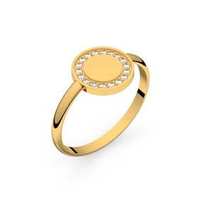 Circles of Love III or jaune diamants GVS