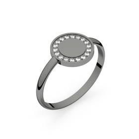 Bague diamants Circles of Love or noir 0,10 ct