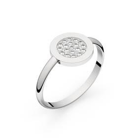 Bague diamants Circles of Love or blanc 0,10 ct