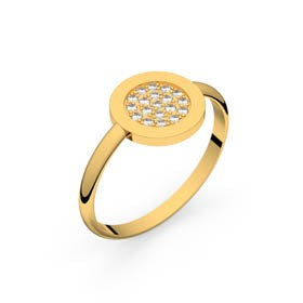 Circles of Love II or jaune diamants GVS