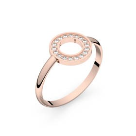 Circles of Love I or rose diamants GVS