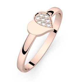 Mon Petit Coeur 4 or rose diamants H-SI