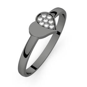 Mon Petit Coeur 4 or noir diamants H-SI