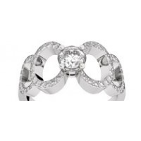 Bague diamants or blanc MON ODYSSEE 0,74 ct