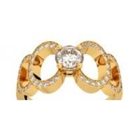 Bague diamants or jaune MON ODYSSEE 0,74 ct