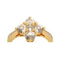 Bague diamants or jaune ROSE DES VENTS 1,27 ct