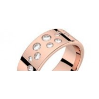 Bague diamants or rose PLUIE D'ETOILES 0,37 ct HSI