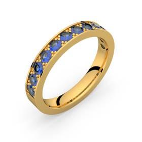 Auriga 96 saphirs bleus or jaune