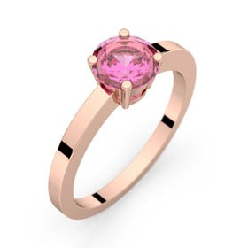 Bague saphir rose or rose DAPHNE 0,98 ct