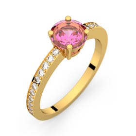Bague saphir rose 0,98 ct or jaune DAPHNE PAVAGE