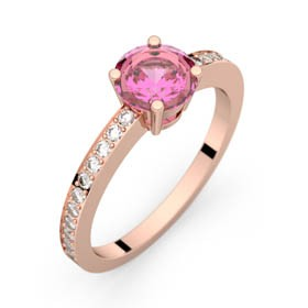 Bague saphir rose 0,98 ct or rose DAPHNE PAVAGE