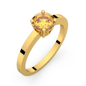 Bague saphir jaune or jaune DAPHNE 1,16 ct