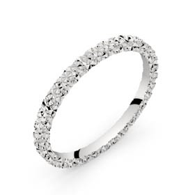 Alliance diamantée or blanc ROSETTA 1,5 mm