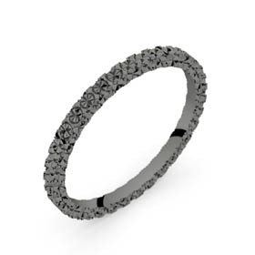 Alliance diamantée or noir ROSETTA 1,5 mm