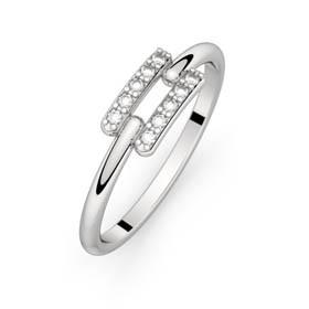 Diamond ring white gold TOI + MOI 0,10 ct
