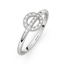 Diamond ring white gold FARANDOLE D'AMOUR 0,00 ct