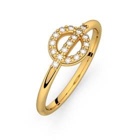 Diamond ring yellow gold FARANDOLE D'AMOUR 0,14 ct HSI