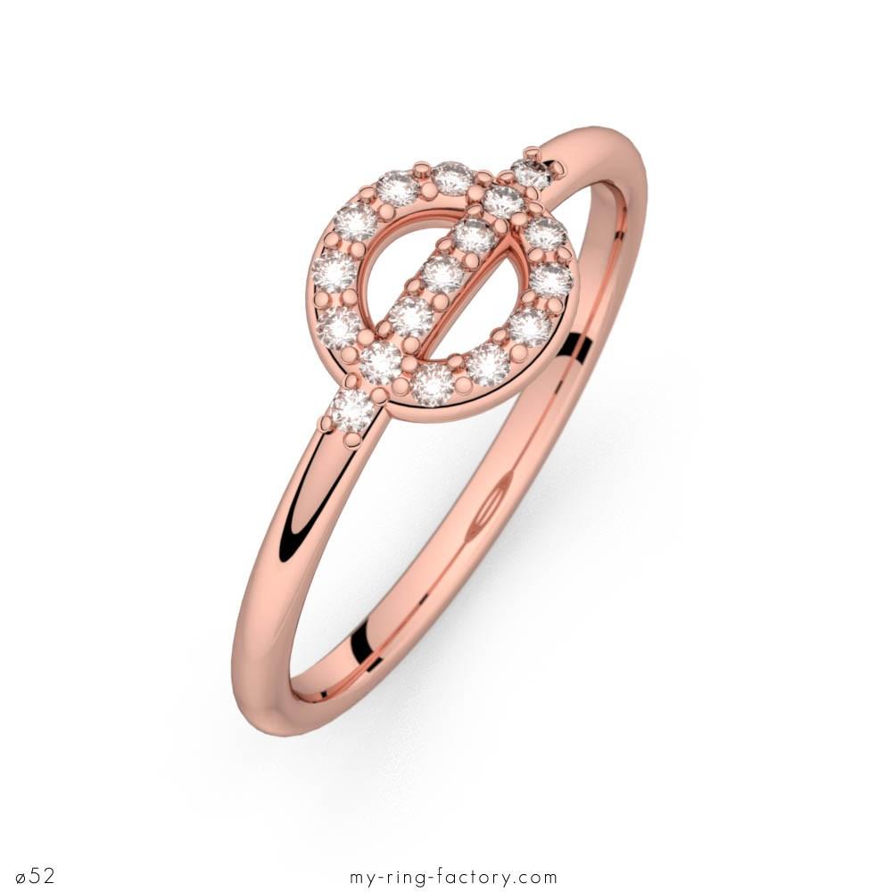 Farandoe d'Amour or rose diamants H-SI