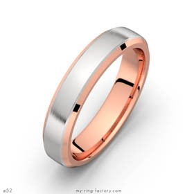 Man ring Riviera pink and white gold