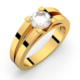 Engagement ring in Yellow gold ANNE 0,70 ct GVS2 GIA