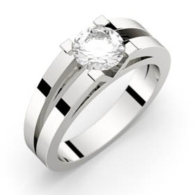Engagement ring White gold ANNE 0,70 ct GVS2 GIA