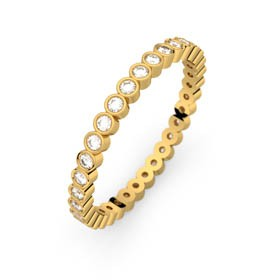 Wedding ring eternity yellow gold APHRODITE 0,33 ct HSI