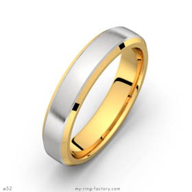 Man RIng Riviera Yellow and White gold