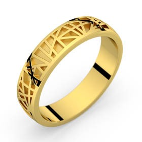 Yellow gold ring Abstraction 50