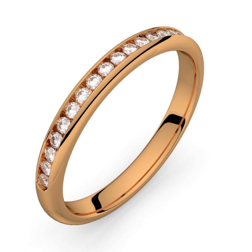 Mini-Comète or rose diamants 20 HSI