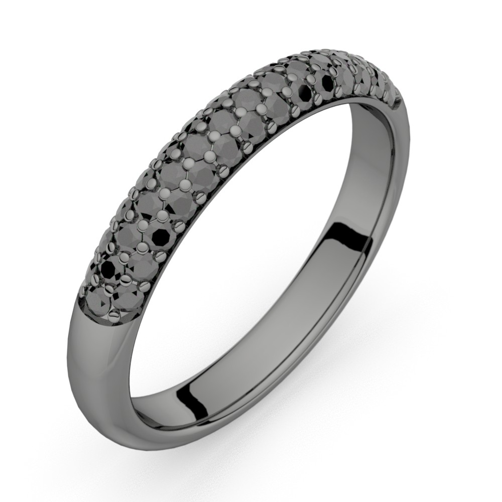 Céleste Dark or noir diamants noirs 43