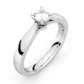 Platinum solitaire ring FAUBOURG 0,30 CT HSI