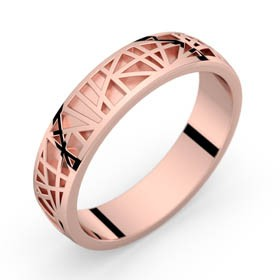 Pink gold ring Abstraction 50