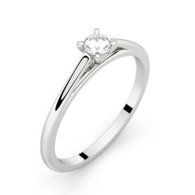 White gold solitaire ring FAUBOURG 0,15 CT GVS