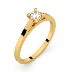 Solitaire or jaune diamant 0,25 ct HSI SAINT-GERMAIN