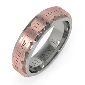 ATLANTE 60 white gold and bronze ring