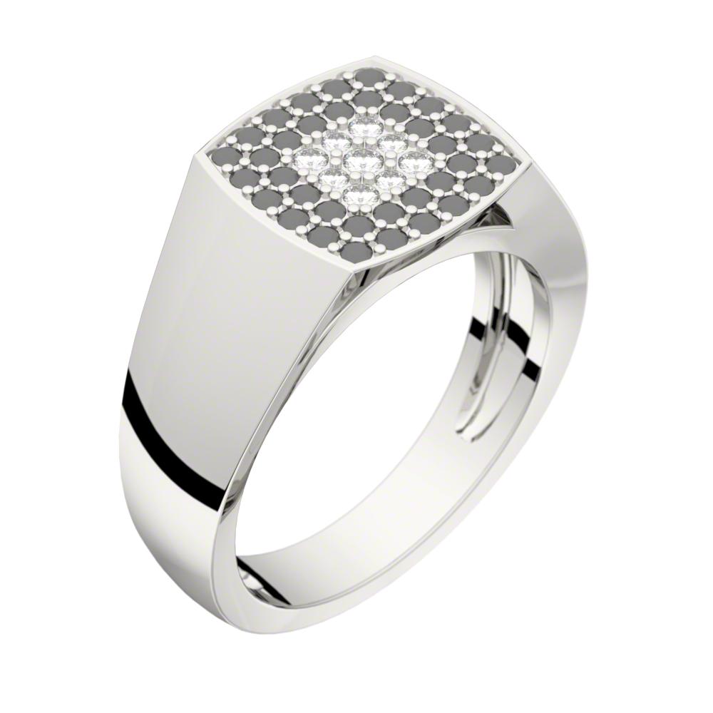 Augusta Pavage or blanc diamants noirs et blancs
