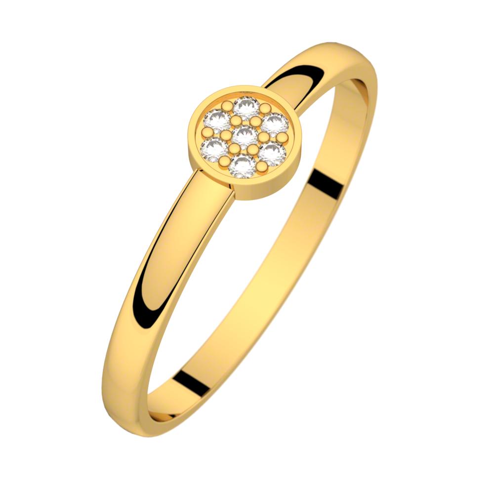 Bague diamant or jaune LUNA 0,04 ct