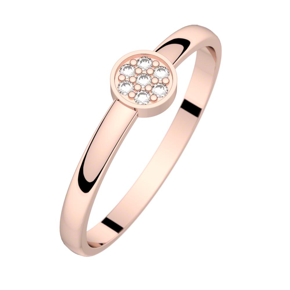 Bague diamant or rose LUNA 0,04 ct