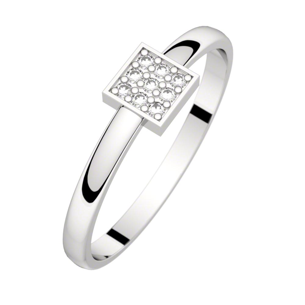 Bague diamant or rhodiage noir LUNA 0,04 ct