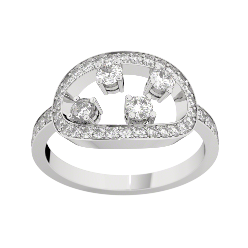 Bague diamants or blanc MA CONSTELLATION 0,68 ct